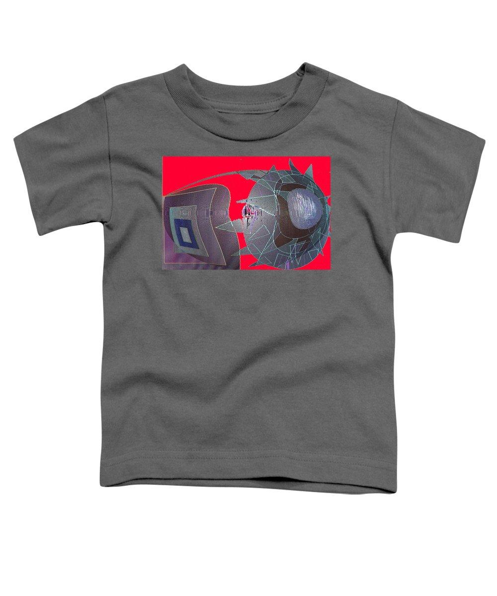 Digital Toddler T-Shirt featuring the digital art Attack by Ian MacDonald
