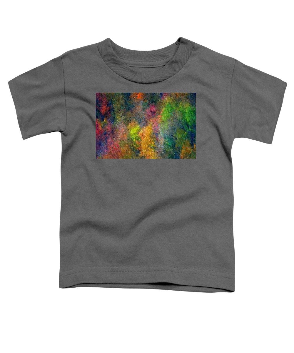 Landscape Toddler T-Shirt featuring the digital art Autum Hillside by David Lane