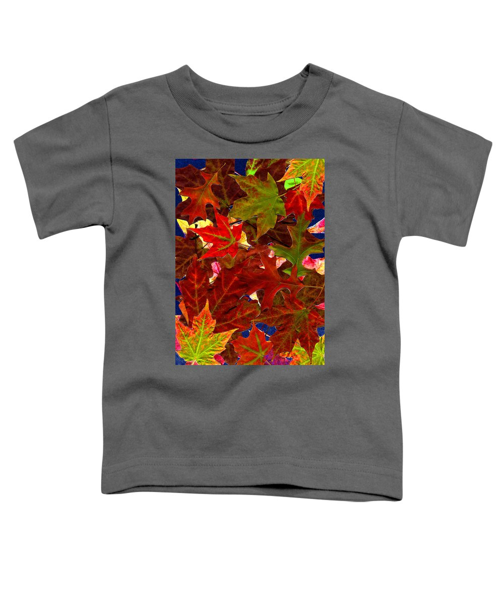 Collage Toddler T-Shirt featuring the photograph Autumn Leaves by Nancy Mueller