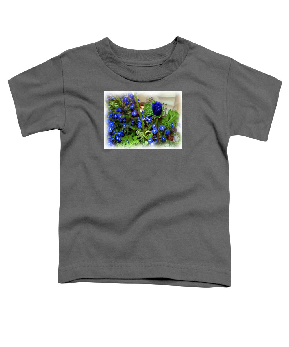 Fine Art Toddler T-Shirt featuring the painting Babys Got The Blues by Patricia Griffin Brett