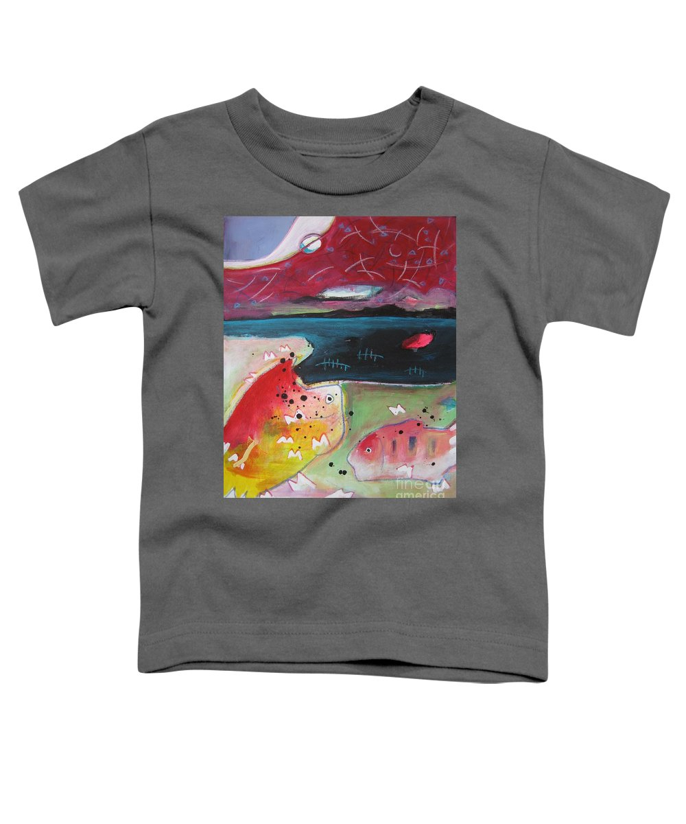 Acrylic Paintings Toddler T-Shirt featuring the painting Baieverte by Seon-Jeong Kim