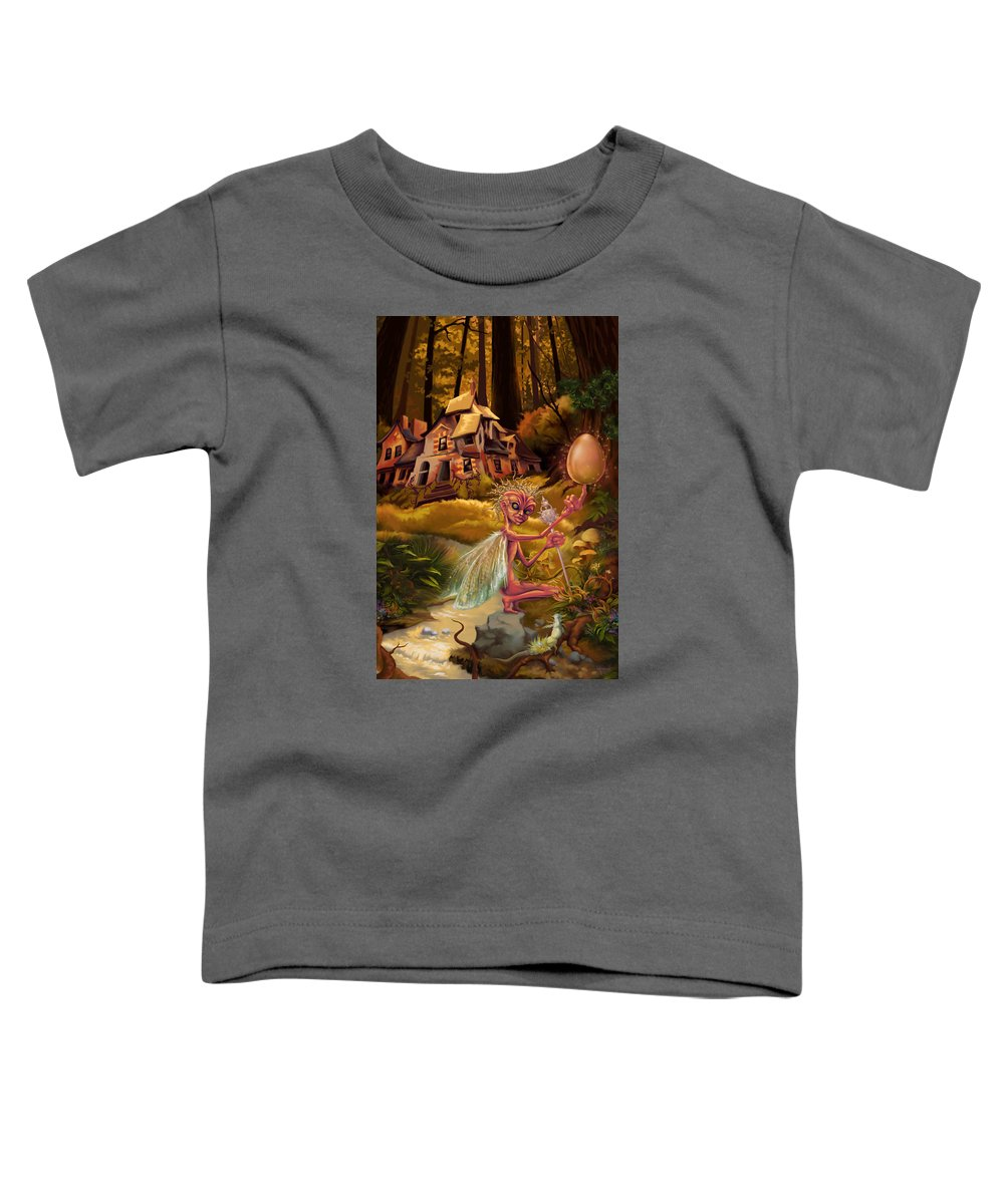 Nature Toddler T-Shirt featuring the painting Balancing Act by Hans Neuhart