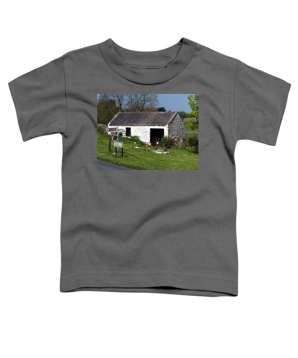 Ireland Toddler T-Shirt featuring the photograph Barn At Fuerty Church Roscommon Ireland by Teresa Mucha