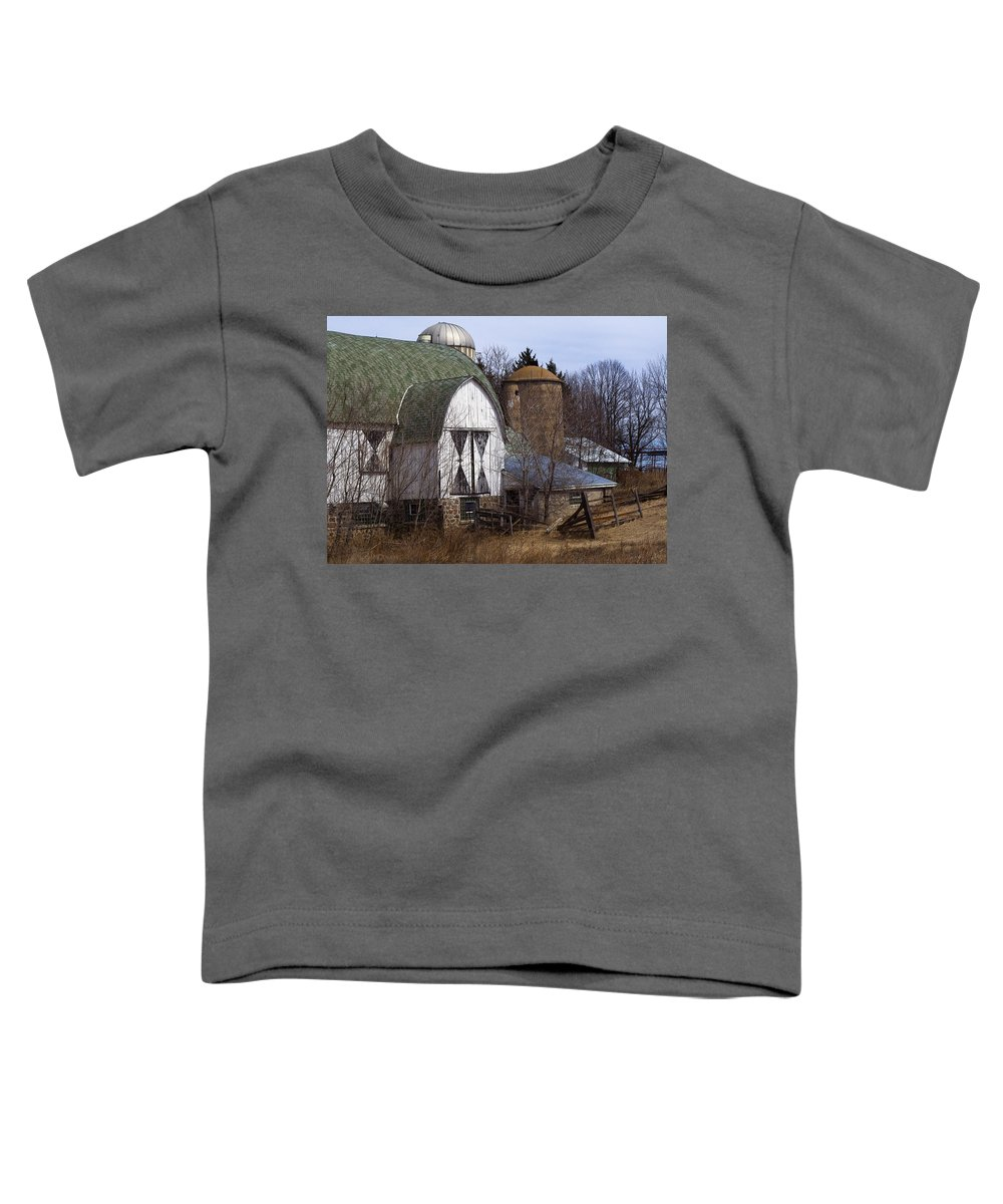 Barn Toddler T-Shirt featuring the photograph Barn On 29 by Tim Nyberg
