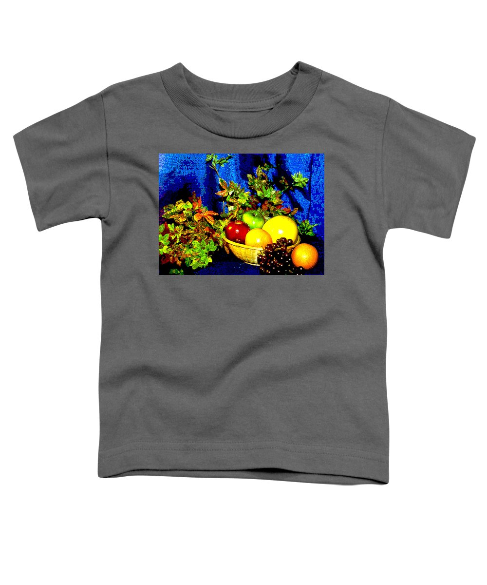 Fruit Toddler T-Shirt featuring the photograph Basket With Fruit by Nancy Mueller