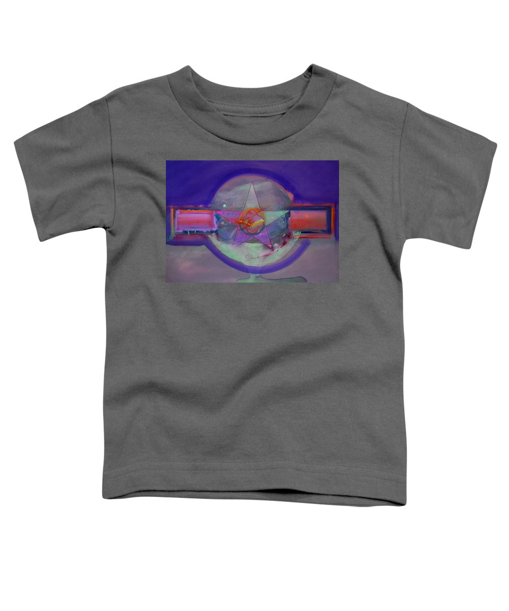 Usaaf Insignia Toddler T-Shirt featuring the painting Battlefield by Charles Stuart