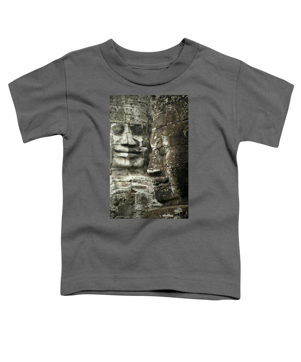 Bayon Toddler T-Shirt featuring the photograph Bayonii by Patrick Klauss