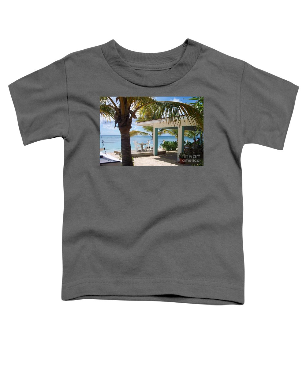 Beach Toddler T-Shirt featuring the photograph Beach In Grand Turk by Debbi Granruth