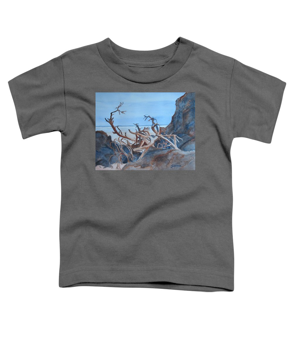 Seascapes Toddler T-Shirt featuring the painting Beach Tangle by Jenny Armitage