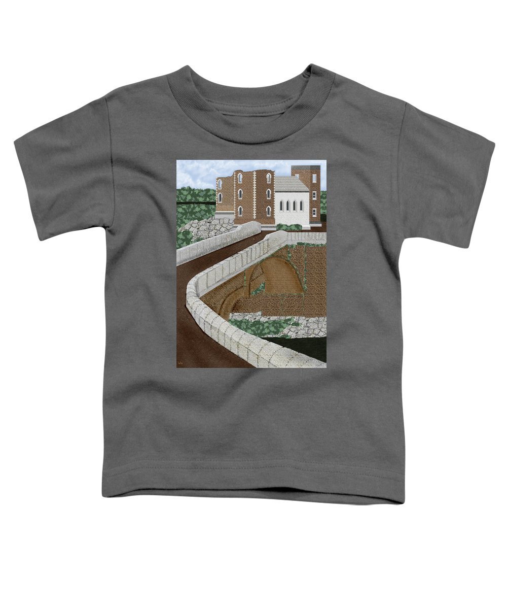 Castle Ruins Toddler T-Shirt featuring the painting Beloved Ruins by Anne Norskog