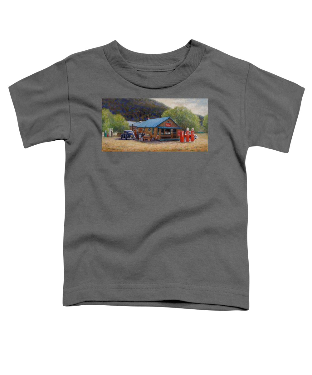 Realism Toddler T-Shirt featuring the painting Below Taos 2 by Donelli DiMaria