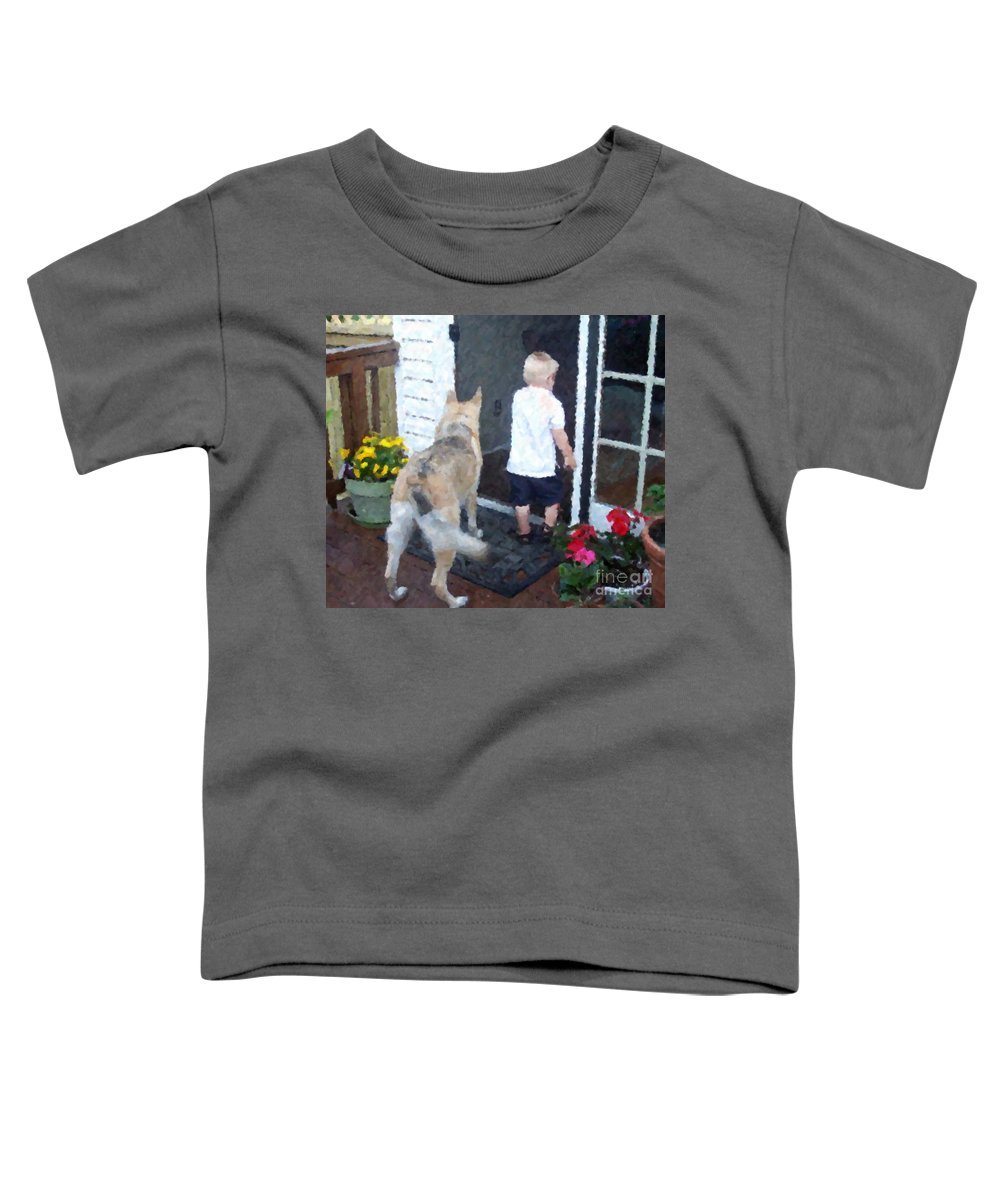 Dogs Toddler T-Shirt featuring the photograph Best Friends by Debbi Granruth