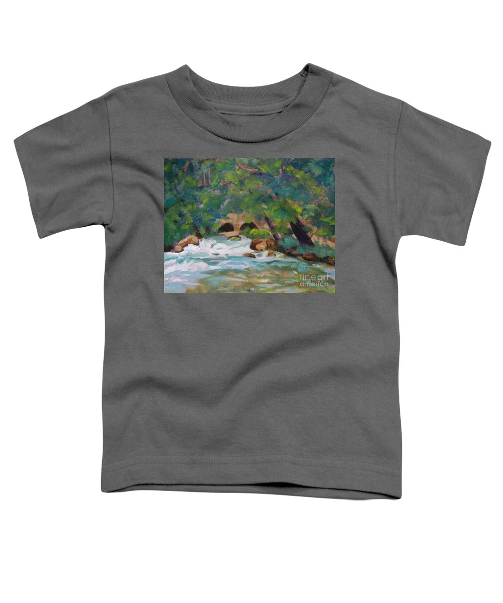 Impressionistic Toddler T-Shirt featuring the painting Big Spring On The Current River by Jan Bennicoff