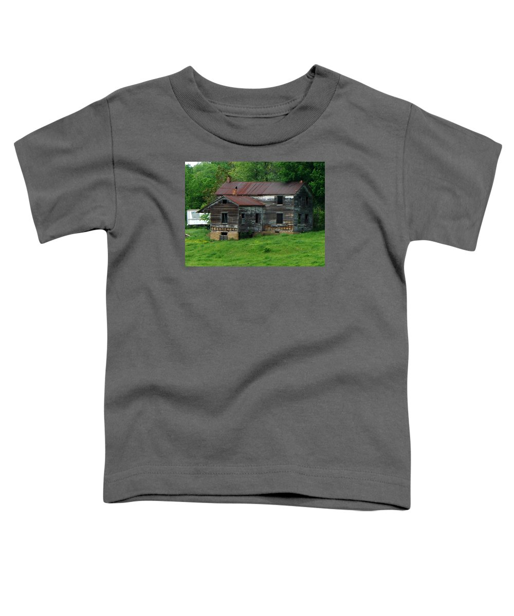 Oldhouse Toddler T-Shirt featuring the photograph Birds On Chimneys by J R  Seymour