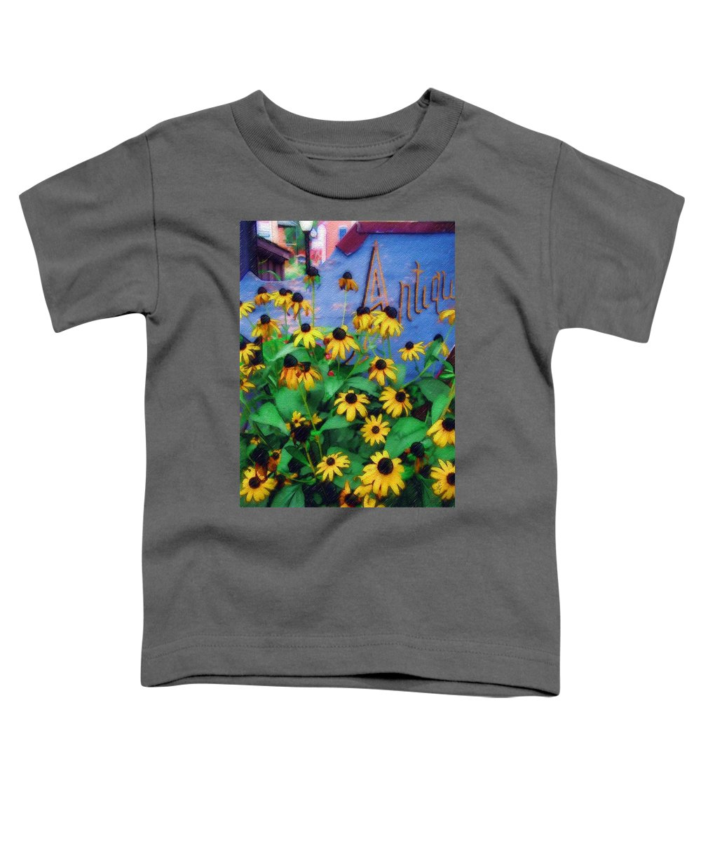 Flowers Toddler T-Shirt featuring the photograph Black-eyed Susans At The Bag Factory by Sandy MacGowan