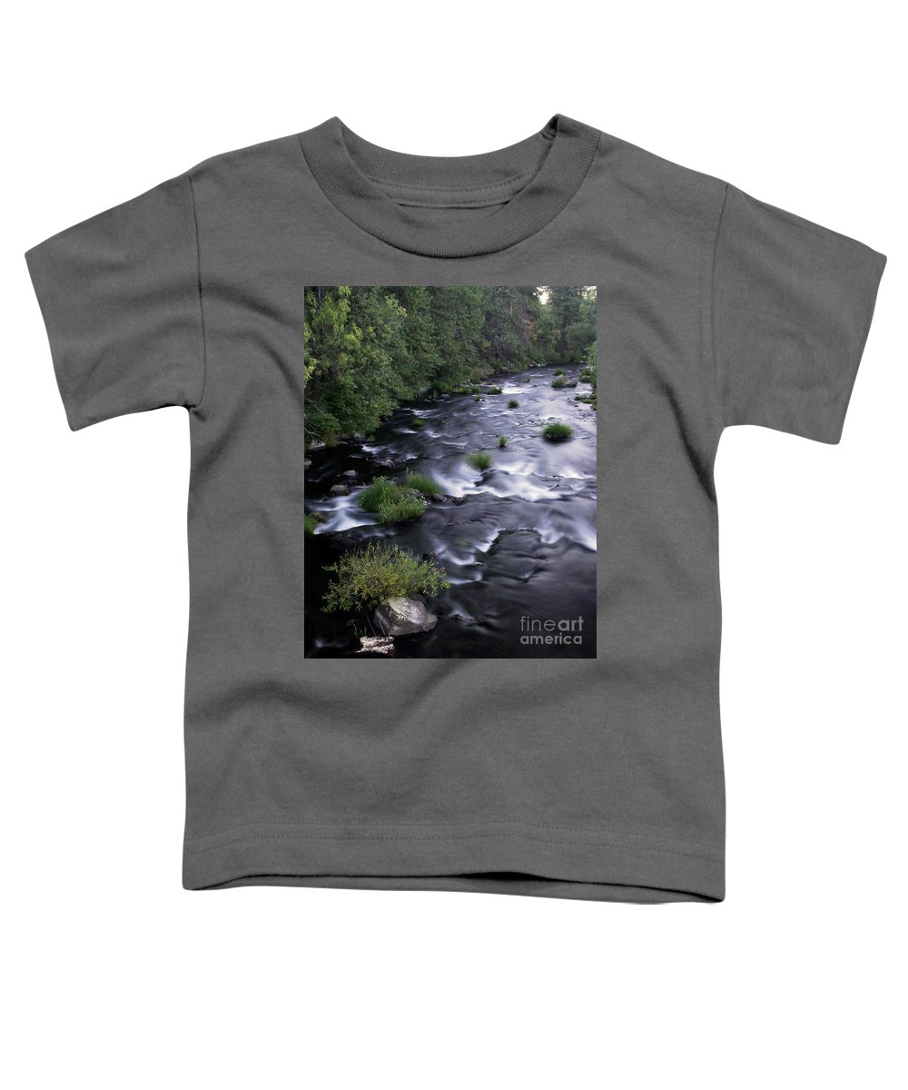 River Toddler T-Shirt featuring the photograph Black Waters by Peter Piatt