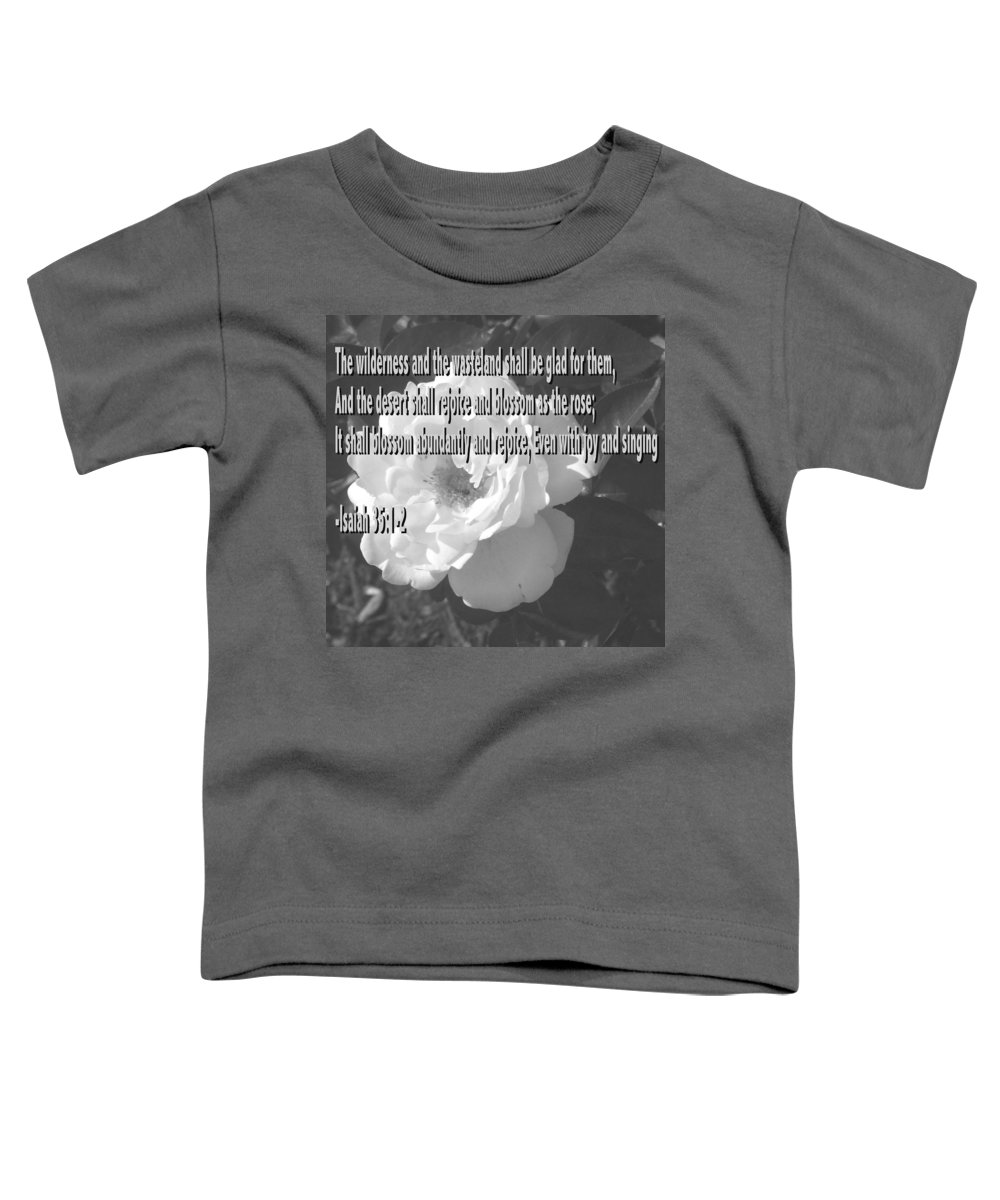 Christian Toddler T-Shirt featuring the photograph Blossom As The Rose by Pharris Art