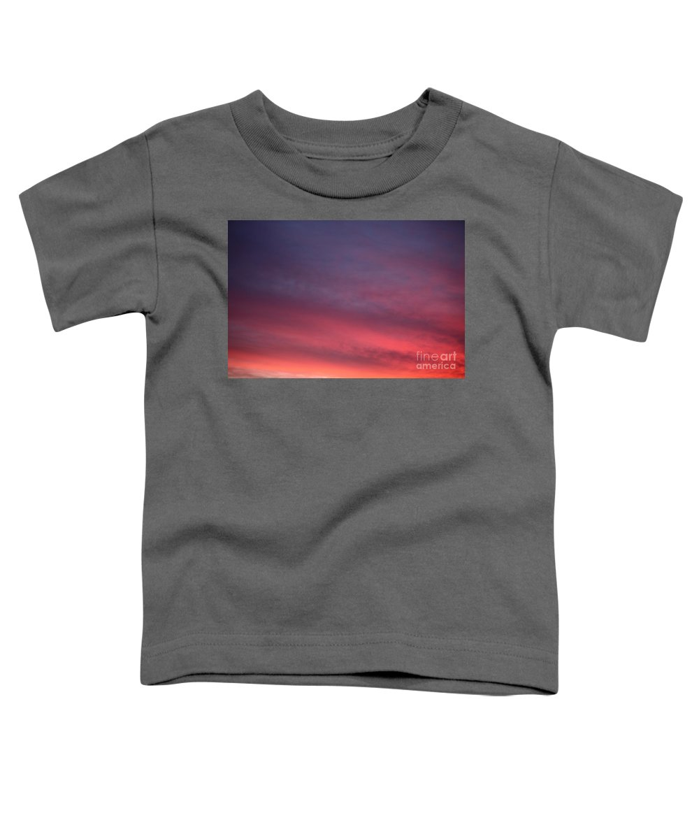 Sunset Toddler T-Shirt featuring the photograph Blue And Orange Sunset by Nadine Rippelmeyer