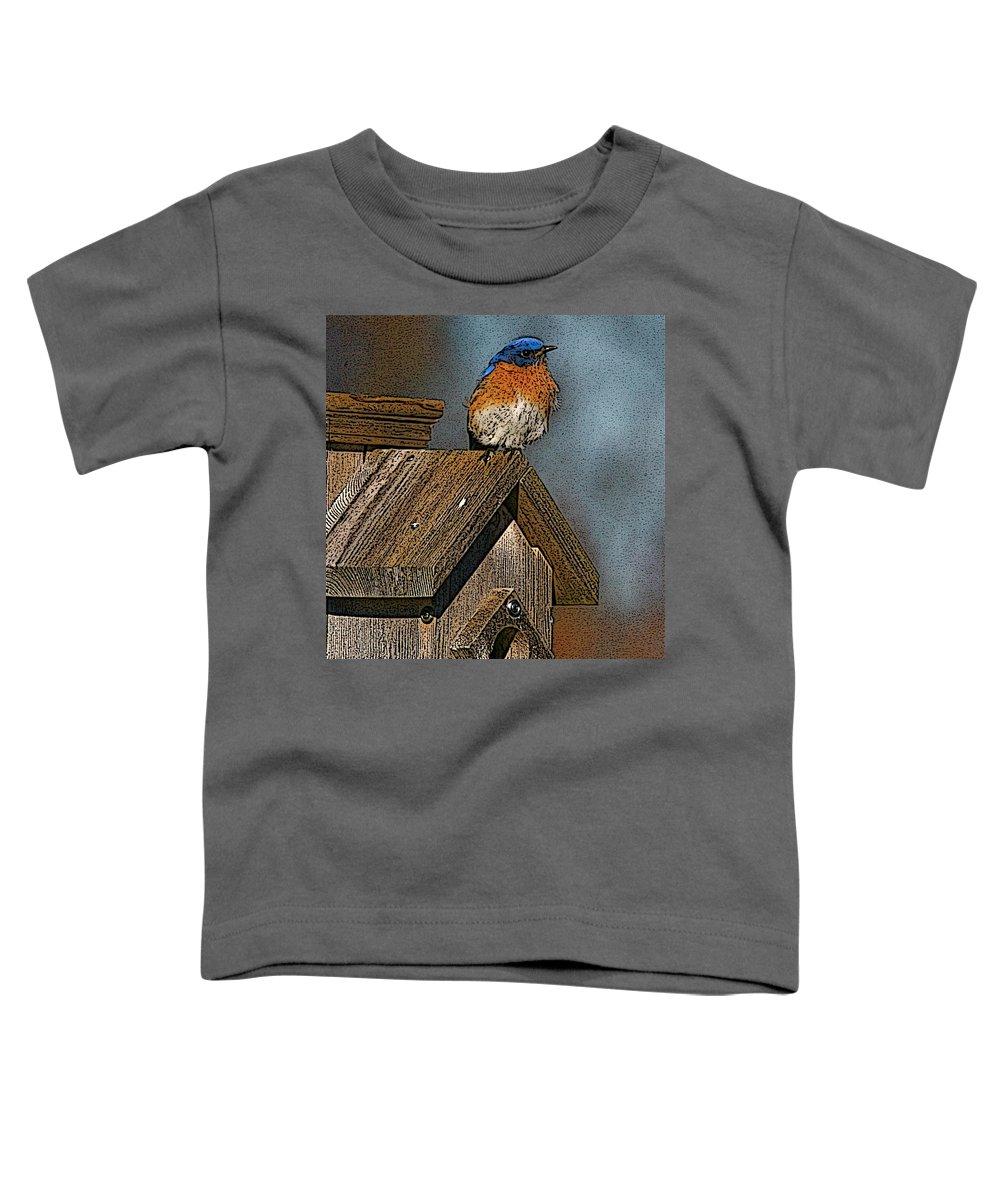 Blue Bird Toddler T-Shirt featuring the photograph Blue Bird Songs by Robert Pearson