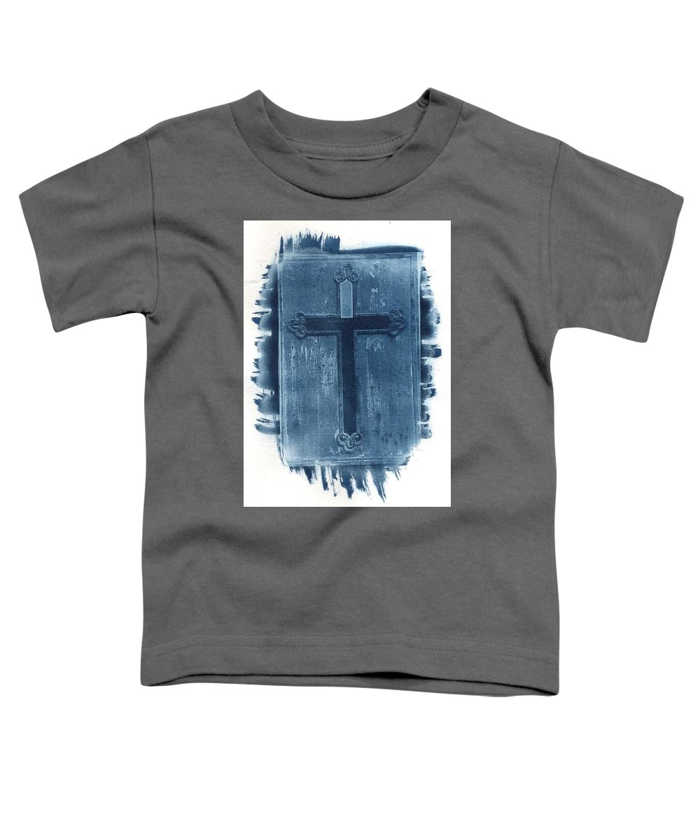 Cyanotype Toddler T-Shirt featuring the photograph Blue Cross by Jane Linders