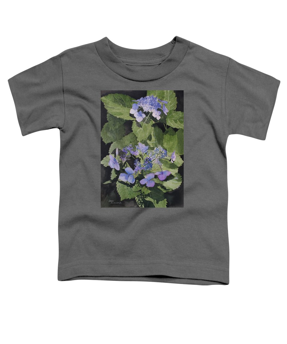 Flowers Toddler T-Shirt featuring the painting Blue Lace by Jean Blackmer