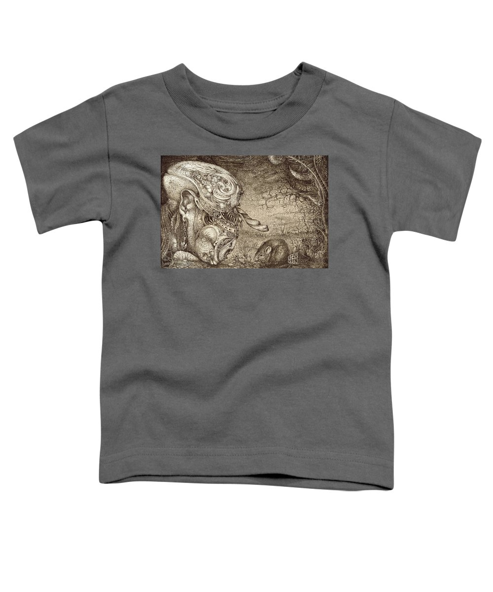 Surreal Toddler T-Shirt featuring the drawing Bogomils Mousetrap by Otto Rapp