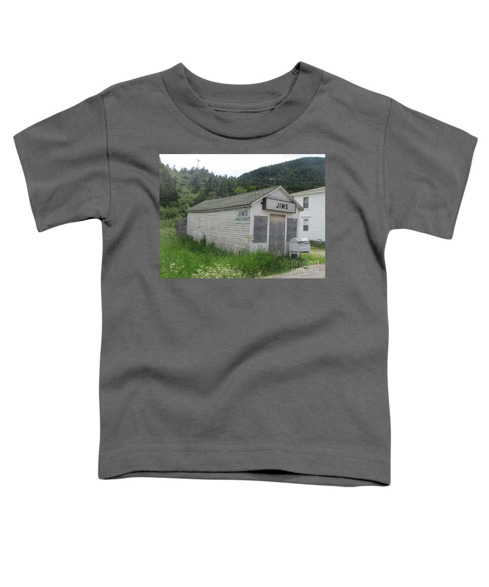 Photograph Bonne Bay Newfoundland Army Navy Store Toddler T-Shirt featuring the photograph Bonne Bay2 by Seon-Jeong Kim