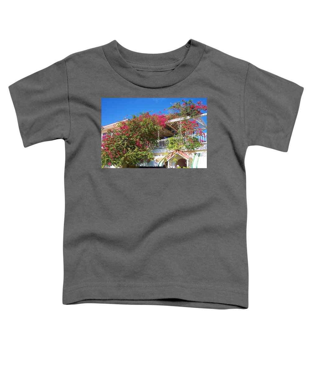 Flowers Toddler T-Shirt featuring the photograph Bougainvillea Villa by Debbi Granruth