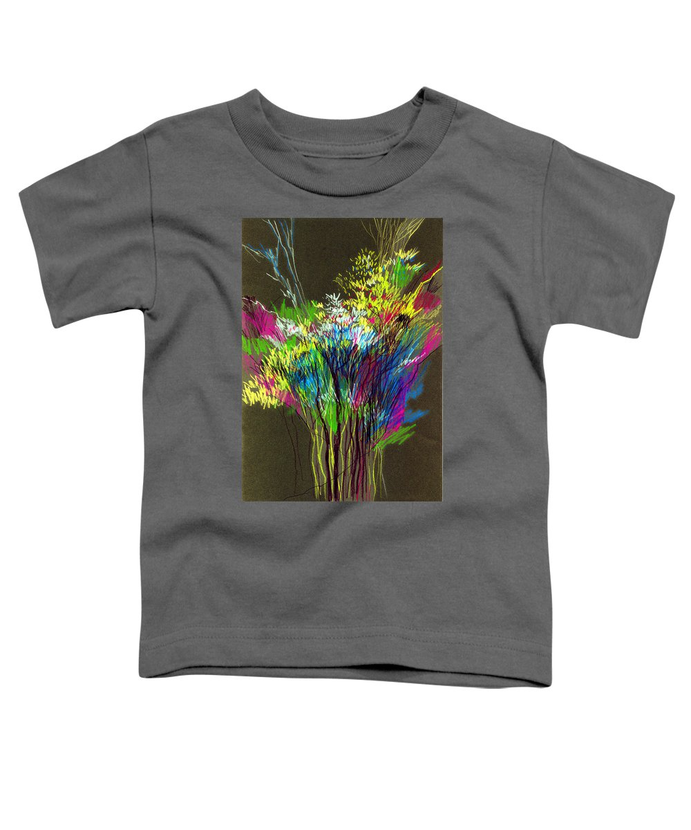 Flowers Toddler T-Shirt featuring the painting Bouquet by Anil Nene