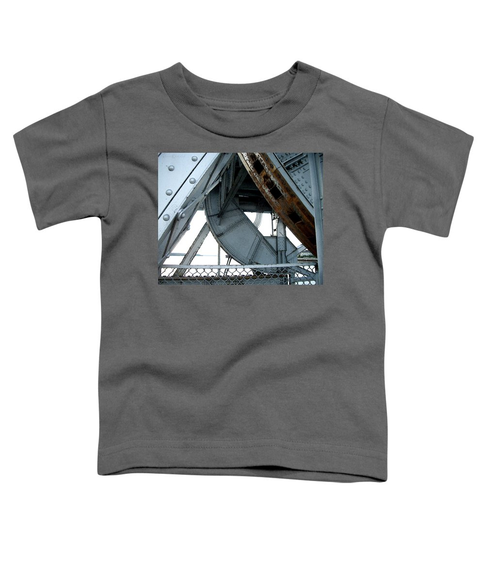 Steel Toddler T-Shirt featuring the photograph Bridge Gears by Tim Nyberg