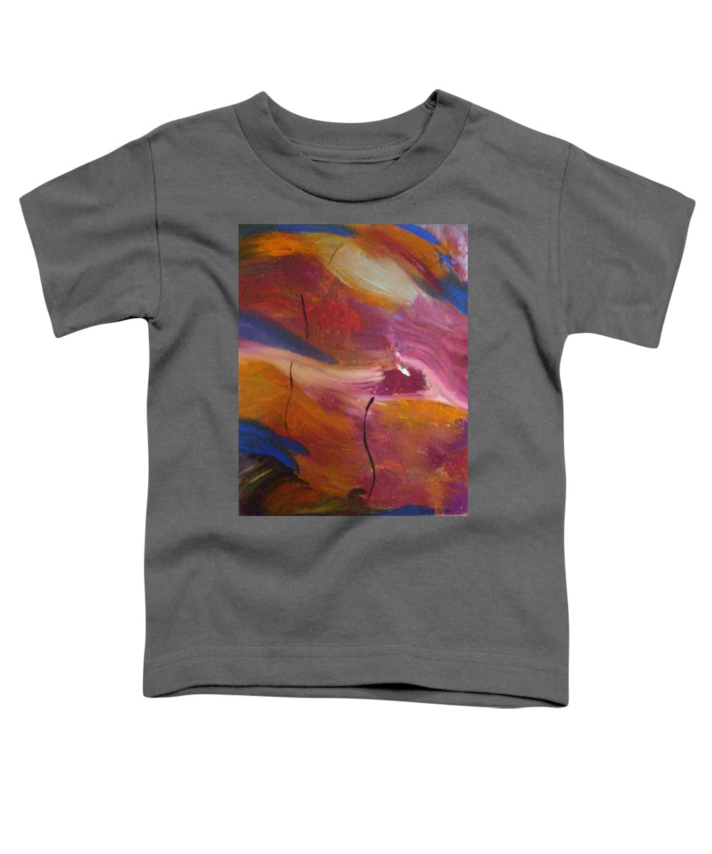 Abstract Art Toddler T-Shirt featuring the painting Broken Heart by Kelly Turner