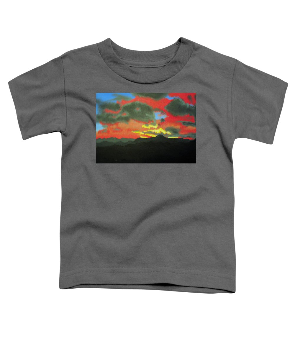 Sunset Toddler T-Shirt featuring the painting Buenas Noches by Marco Morales
