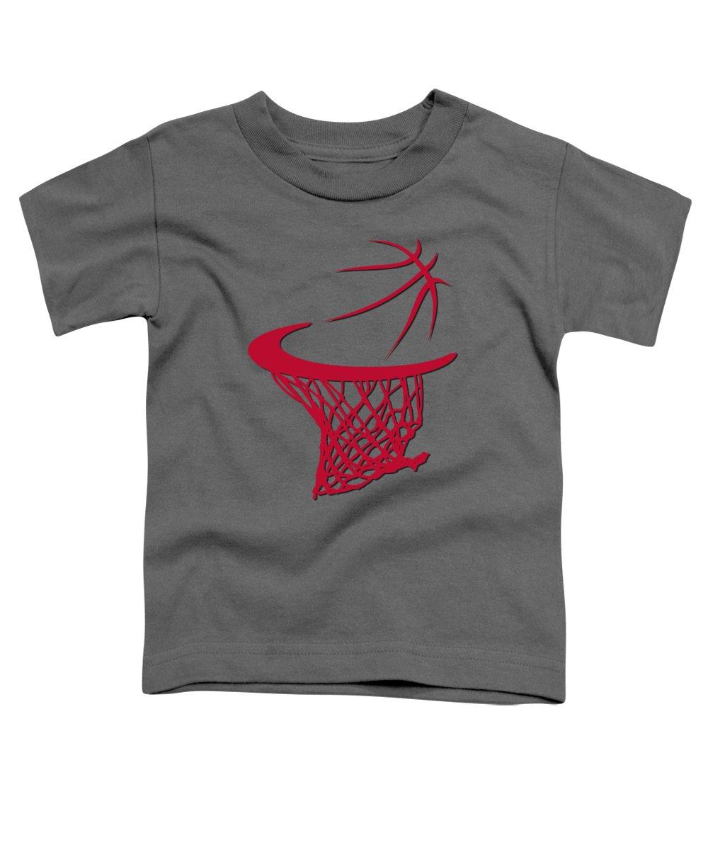 Bulls Toddler T-Shirt featuring the photograph Bulls Basketball Hoop by Joe Hamilton