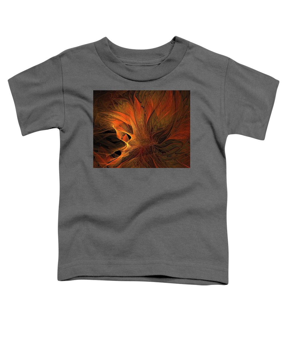 Digital Art Toddler T-Shirt featuring the digital art Burn by Amanda Moore