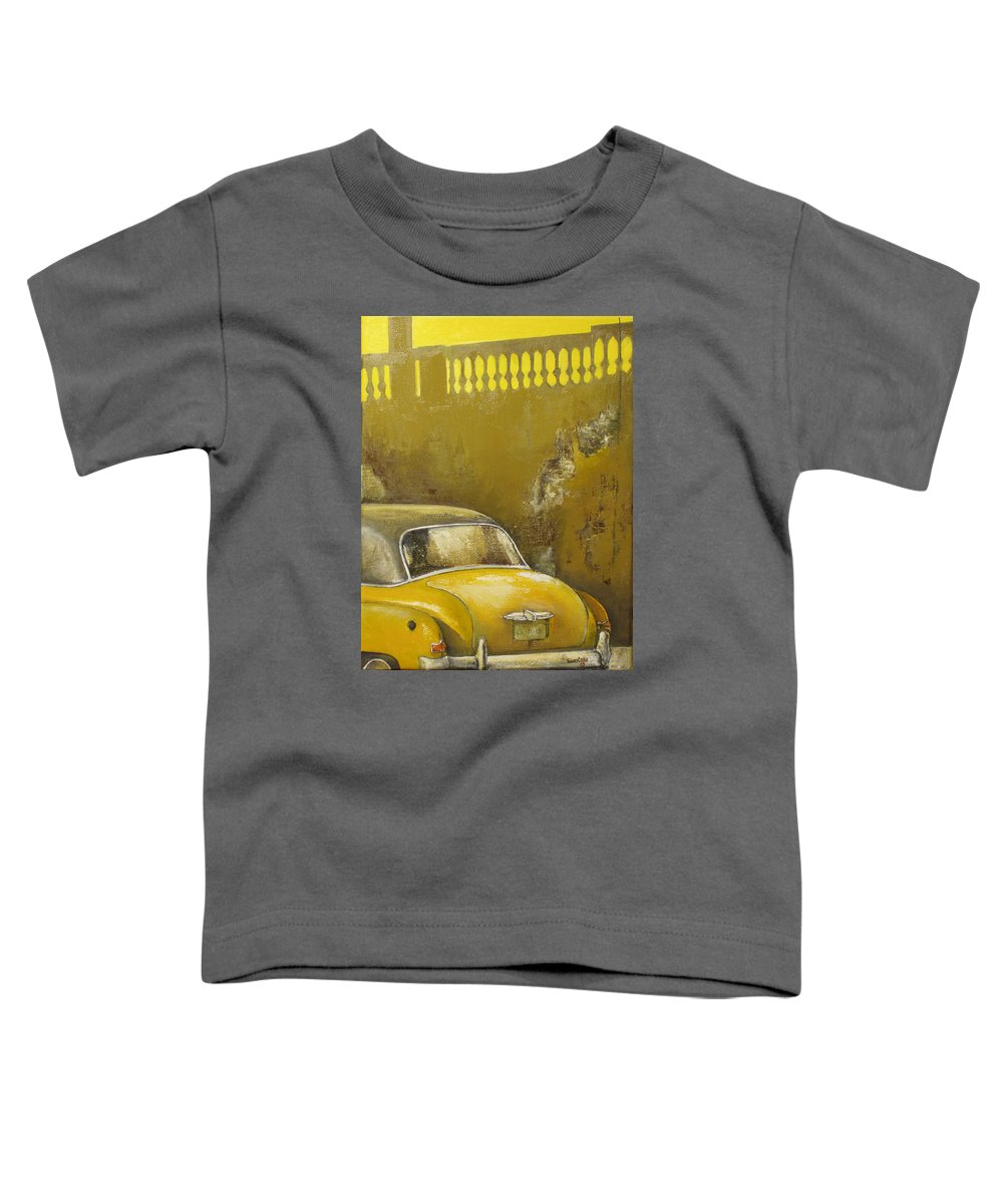 Havana Toddler T-Shirt featuring the painting Buscando La Sombra by Tomas Castano