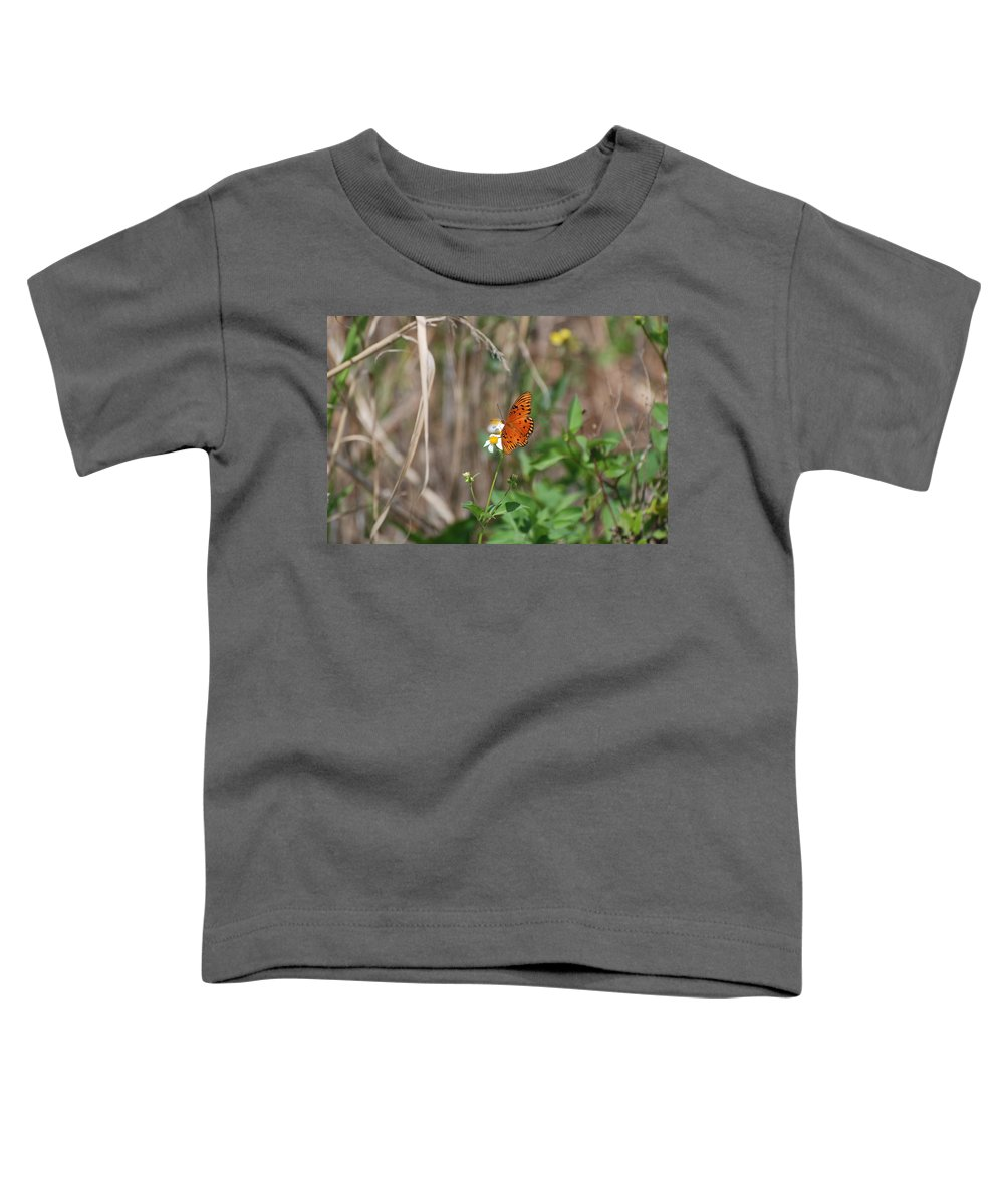 Nature Toddler T-Shirt featuring the photograph Butterfly On Flower by Rob Hans