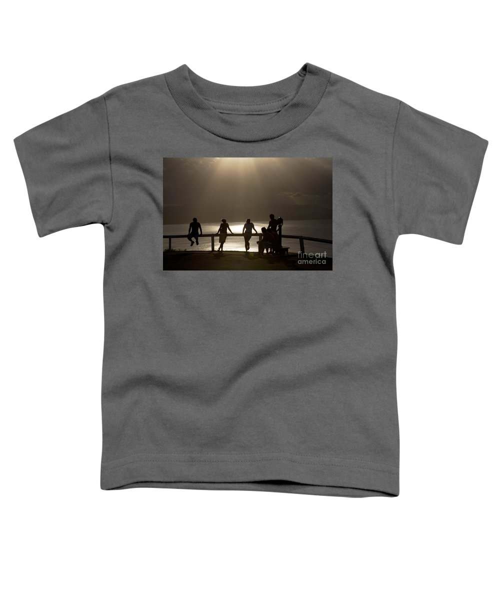 Byron Bay Lighthouse Silhouette Sunset Rays Toddler T-Shirt featuring the photograph Byron Bay Lighthouse by Sheila Smart Fine Art Photography