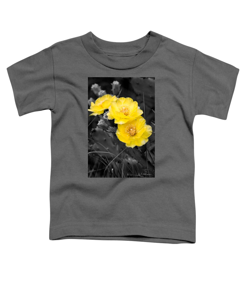 Cactus Toddler T-Shirt featuring the photograph Cactus Blossom by Christopher Holmes