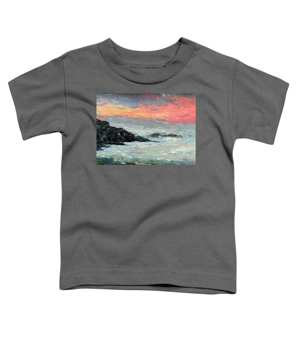 Seascape Toddler T-Shirt featuring the painting California Coast by Gail Kirtz