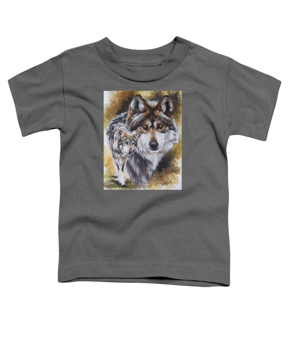 Wildlife Toddler T-Shirt featuring the mixed media Callidity by Barbara Keith