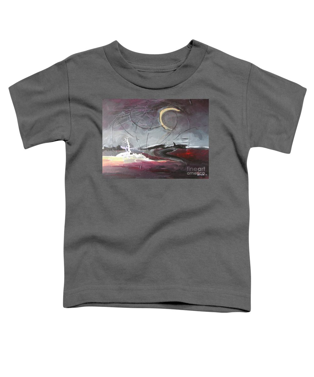 Abstract Paintings Toddler T-Shirt featuring the painting Cape St. Mary by Seon-Jeong Kim