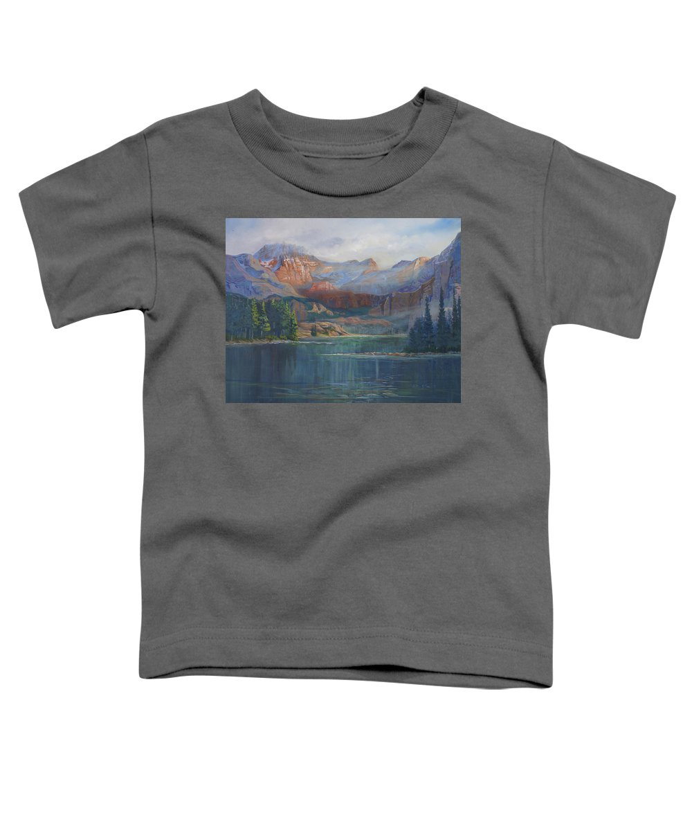 Capital Peak Toddler T-Shirt featuring the painting Capitol Peak Rocky Mountains by Heather Coen