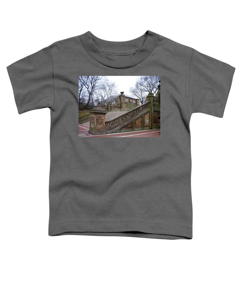 Central Park Toddler T-Shirt featuring the photograph Central Park Bethesda 1 by Anita Burgermeister