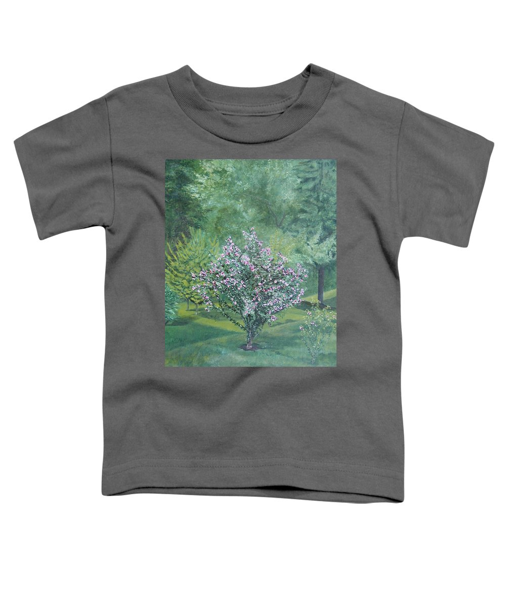 Blooming Toddler T-Shirt featuring the painting Charles Street by Leah Tomaino