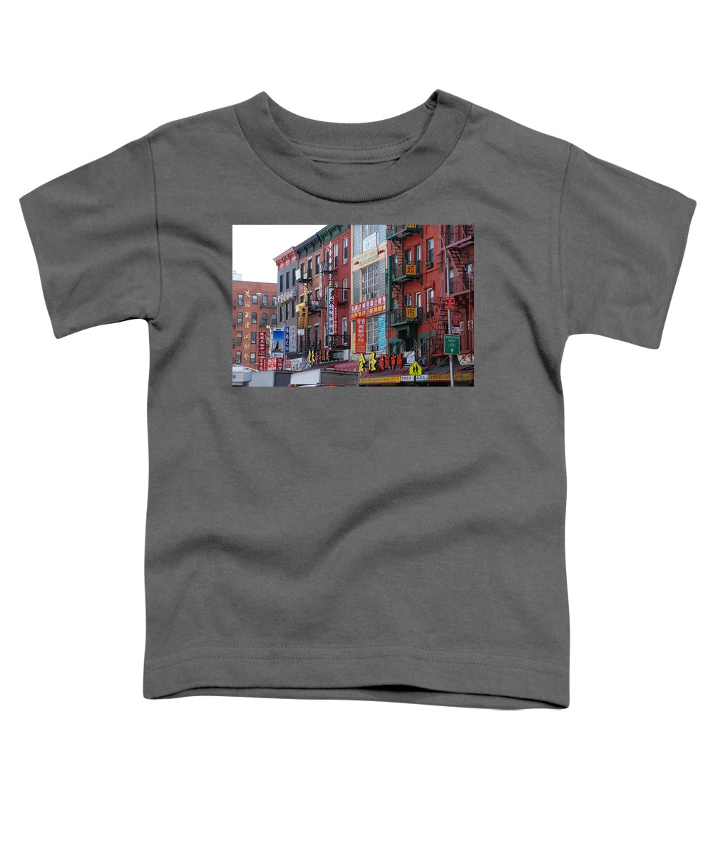 Architecture Toddler T-Shirt featuring the photograph China Town Buildings by Rob Hans