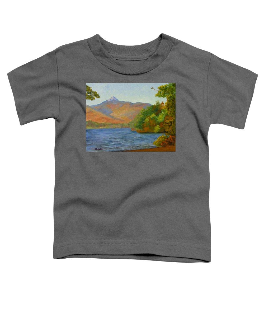 Mount Chocorua And Chocorua Lake Toddler T-Shirt featuring the painting Chocorua by Sharon E Allen