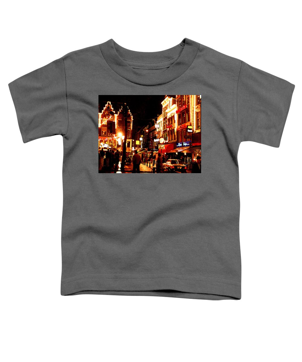 Night Toddler T-Shirt featuring the photograph Christmas In Amsterdam by Nancy Mueller