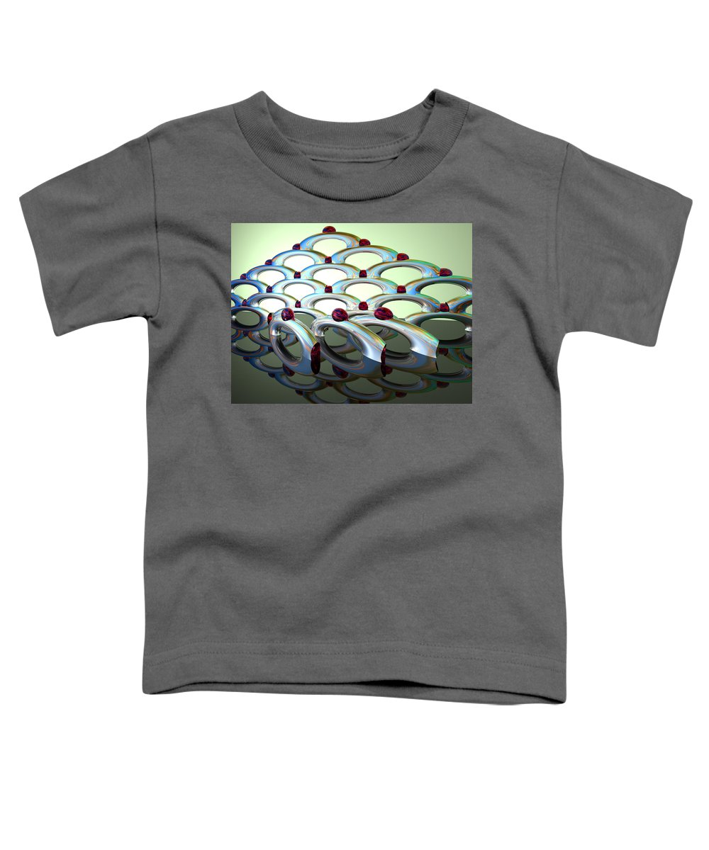 Scott Piers Toddler T-Shirt featuring the painting Chrome Sundae by Scott Piers