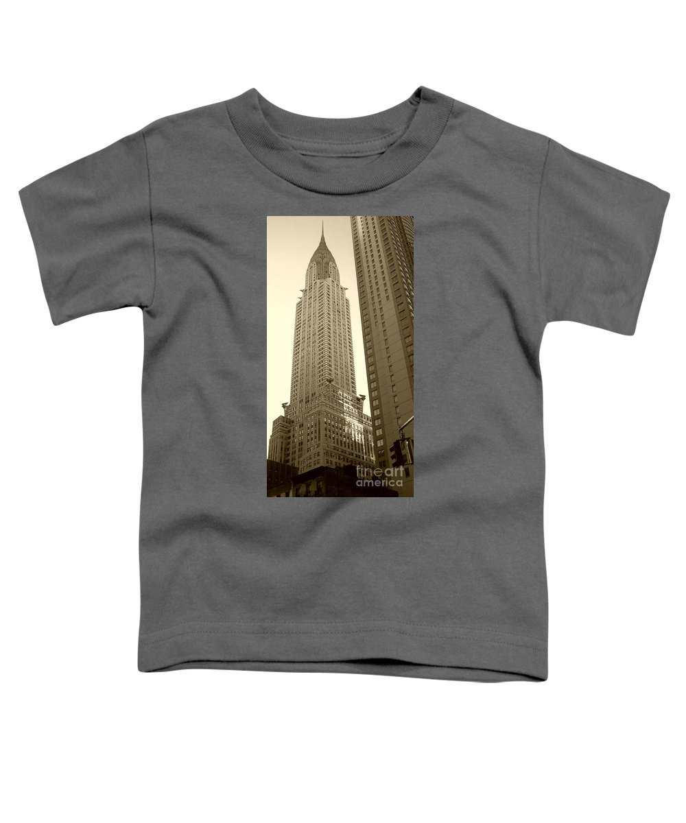New York Toddler T-Shirt featuring the photograph Chrysler Building by Debbi Granruth