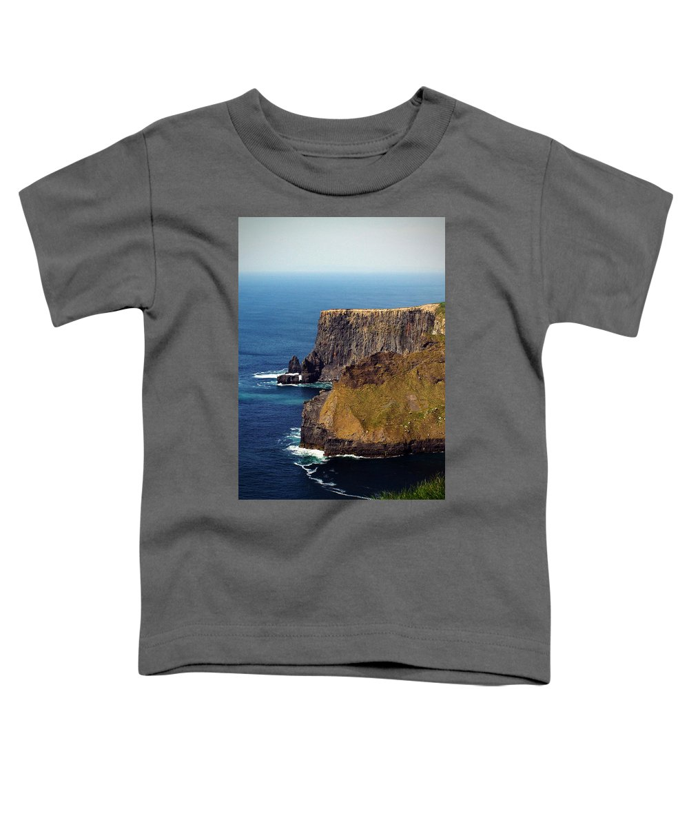 Irish Toddler T-Shirt featuring the photograph Cliffs Of Moher Ireland View Of Aill Na Searrach by Teresa Mucha